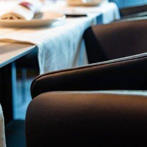 Dettaglio di sedia, o poltroncina, al Prosperità di Limbiate